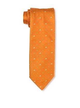Moschino Men's Mini Block Tie, Orange