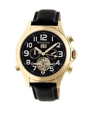 Heritor Automatic Uhr Adams Herhr2703 schwarz 50  mm