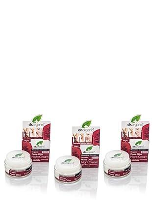 Dr.Organic Set 3 Crema Facial de Noche Rosa de Mosqueta 50Ml (u)