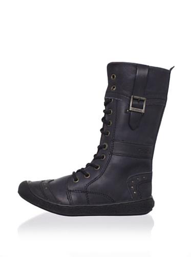 Kickers Kid's Sister Boot (Toddler/Little Kid) (Black)