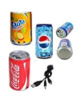 SOFT DRINK PEPSI COLA BEER CAN SHAPE MP3 AUDIO SONGS FM RADIO MULTIMEDIA SPEAKER