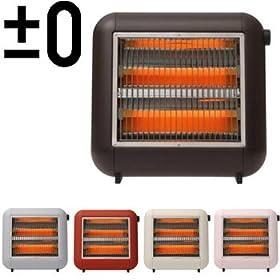 ±0 Infrared Electric Heater プラスマイナスゼロ 遠赤外線電気ストーブ [ブラウン]