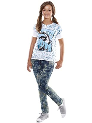 Custo Camiseta Placky Alive (azul / blanco)