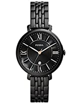 Fossil Jacquline Black Dial Black Ion-plated Ladies Watch (ES3614)