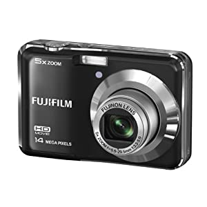 Fujifilm FinePix AX500 14MP Point-and-Shoot Digital Camera (Black) with SD Card, Carry Case, Battery Charger