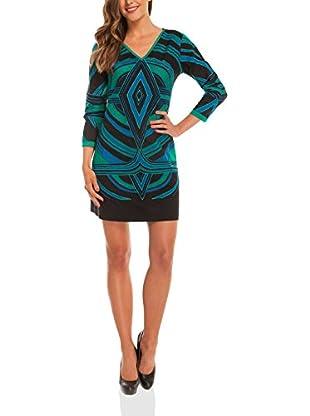 Almatrichi Kleid Bianca schwarz/grün/blau DE 36 (ES 38)