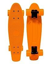 "Blank Vinyl Plastic Cruiser Skateboard Complete Penny Size 22"" Stereo-Sonic Tail Orange/Orange"