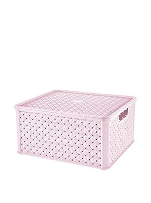 Tontarelli Caja Contenedor x 4 Arianna Grande 13L Rosa