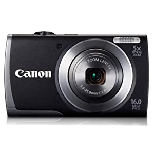 Canon PowerShot A3500 16MP Point and Shoot Camera (Black) with 5x Optical Zoom