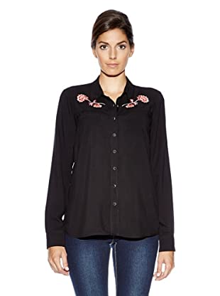 Vero Moda Blusa Bordados (Negro)
