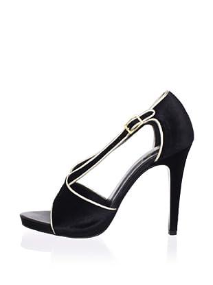 Paul & Joe Women's Love Cross Front High Heel Sandal (Black)