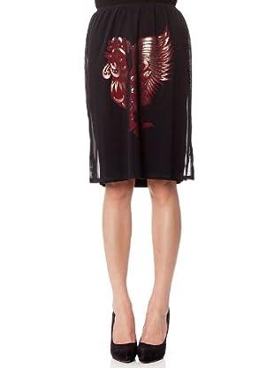 Custo Falda Fush (Negro / Rojo)