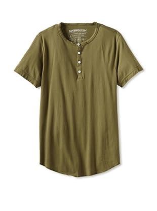 Spenglish Men's Short Sleeve Henley (Olive)