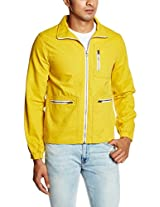 United Colors of Benetton Men's Cotton Jacket (8903975038813_15A2FS1C7042I23H46_small_Amber Yellow)