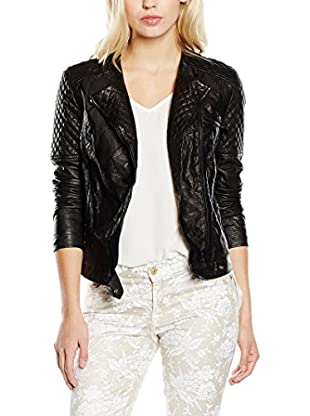 7 For All Mankind Cazadora Piel Crinkle Moto