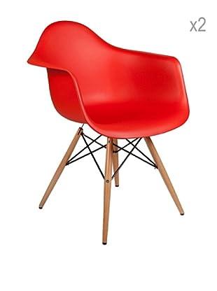 Lo+deModa Set De 2 Sillas Dimero Color Edition Rojo