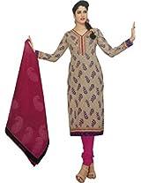 Shree Ganesh Women's Cotton Unstitched Dress Material (DSG332_Purple_Free Size)