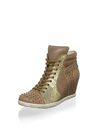 Koolaburra Women's Kenny Fashion Sneaker (Chestnut)
