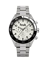 FCUK Analog White Dial Men's Watch - FC1115SGN