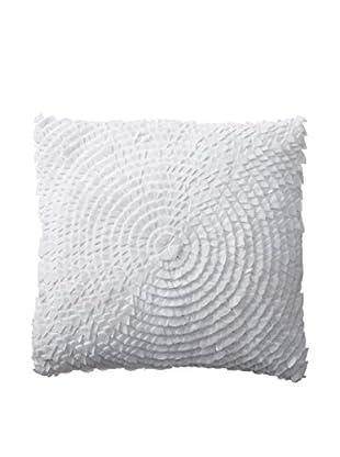 Shades of India Dahlia Pillow Cover, White