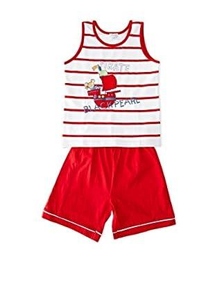 Pillerias Pijama Teutrania (Rojo / Blanco)