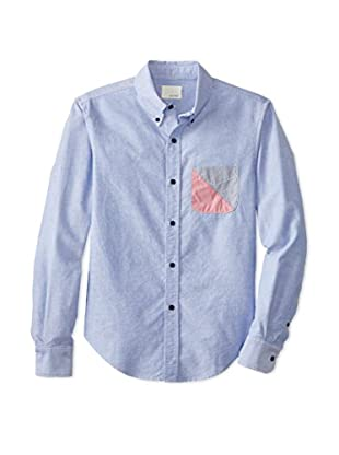 Band of Outsiders Men's Oxford Long Sleeve Shirt (Light Blue)