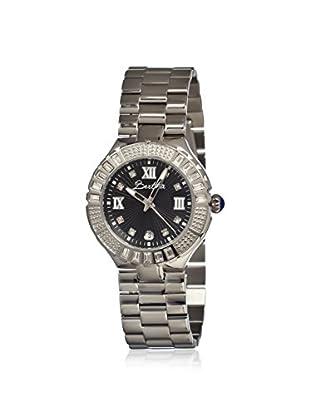 Bertha Women's BR1705 Evelyn Silver/Black Stainless Steel Watch