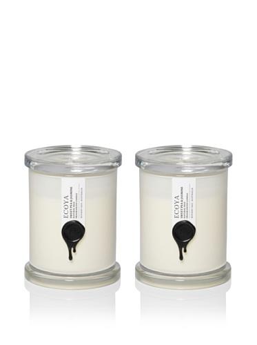 Ecoya Set of 2 Sweet Pea & Jasmine 9.5-oz. Metro Jars