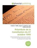 Prambule De La Constitution Du 27 Octobre 1946