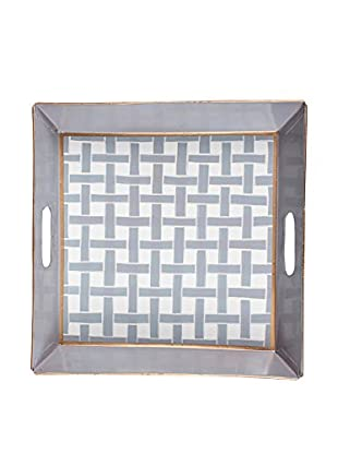 Jayes Basketweave Square Tray, Grey