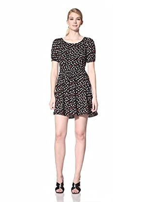 A.B.S. by Allen Schwartz Women's Printed Dress with Back Cutout (Black)