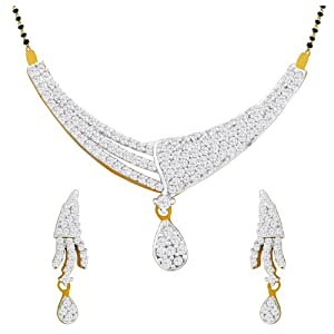 Spargz Designer Gold Mangalsutra Earring Set For Women AIMS 010