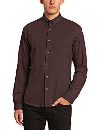 Selected Homme Camisa Hombre Calhoun (Burdeos)