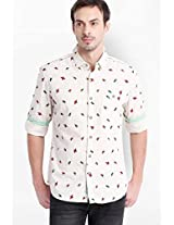 Printed Beige Casual Shirt