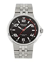 OMAX ANALOG STAINLESS STEEL BLACK DIAL WATCH FOR MEN (MONTRES OMAX S.A. - A SWISS WATCH COMPANY) ...