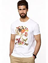 FRENCH CONNECTION Floral Skull Print T-shirt