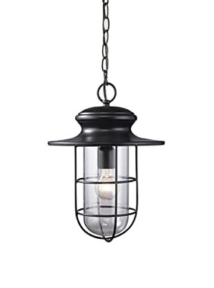 Elk 42286/1 Portside 1-Light Outdoor Pendant In Matte Black