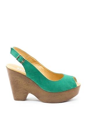 Misu Peeptoe-Sandalette Stelar (Grün)