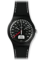 Swatch SUOB117 Brake Black Silicone Strap Watch