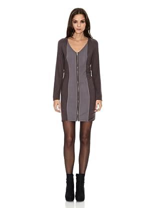 Rare London Vestido Zip Panel (Gris)