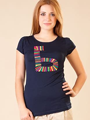 By Basi Camiseta Bordado (azul marino)