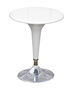 Manhattan Living Razzle Bar Table, White
