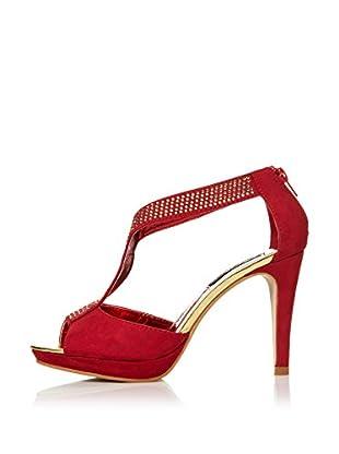 Alex Silva Sandalias Ankle Strap T-Bar 2-Parts (Rojo)