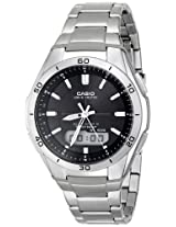 Casio Mens WVA-M640D-1ACR Wave Ceptor Analog-Digital Stainless Steel Bracelet Watch