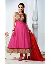 Evelyn Sharma Pink Cotton Anarkali Suit SS2026-1010