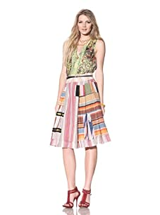 Gregory Parkinson Women's Patchwork Skirt (Derenched)