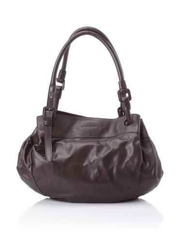 JIL SANDER Women's Small Gathered Shoulder Bag (Dark Brown)