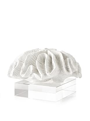 Barclay Butera Seaside Lettuce Coral Sculpture (White/Clear)