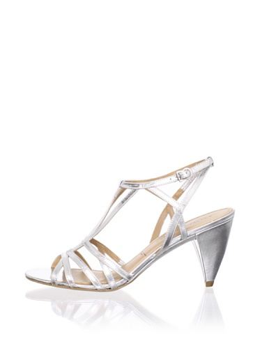 Sigerson Morrison Women's Vardon Ankle-Strap Sandal (Argento)