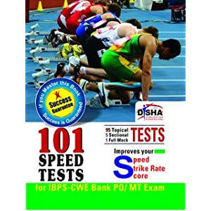 101 Speed Tests for IBPS CWE Bank PO/MT Exam (With Success Guarantee) (Old Edition)